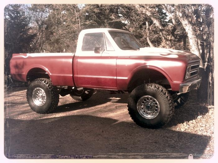 1970's Chevrolet pickup truck, lifted for offroad play in ...