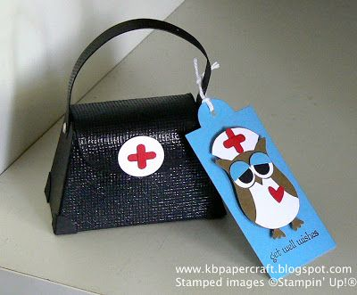 too cute!.. the 'medical bag' is even made of paper and embossed to look like leather... fill with kleenex, chocolate, puzzle book, etc!