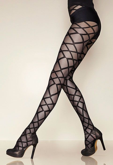Gerbe Allure Tights. This one is full on bringing sexy back! Pair it with a simple little black dress for a great sophisticated cocktail party look. #style #leggings