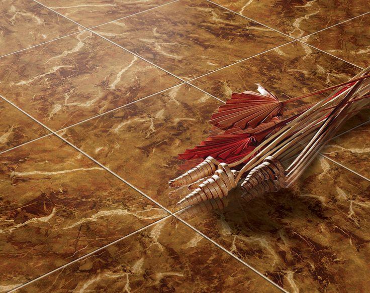 Gresie portelanata N-Flamenco cu suprafata lucioasa, cu design marmorat