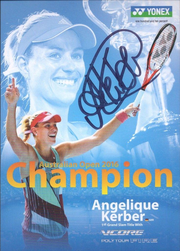 Angelique Kerber (2016 #1 ranked Tennis Player, 2016 Australian Open Winner, 2016 US Open Winner, 2016 Olympics-silver) autograph