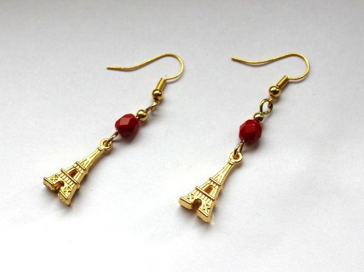 Kolczyki z Wieżą Eiffla w Especially for You! na http://pl.dawanda.com/shop/slicznieilirycznie  #kolczyki #earrings #crystals #kryształki #handmade #DaWanda