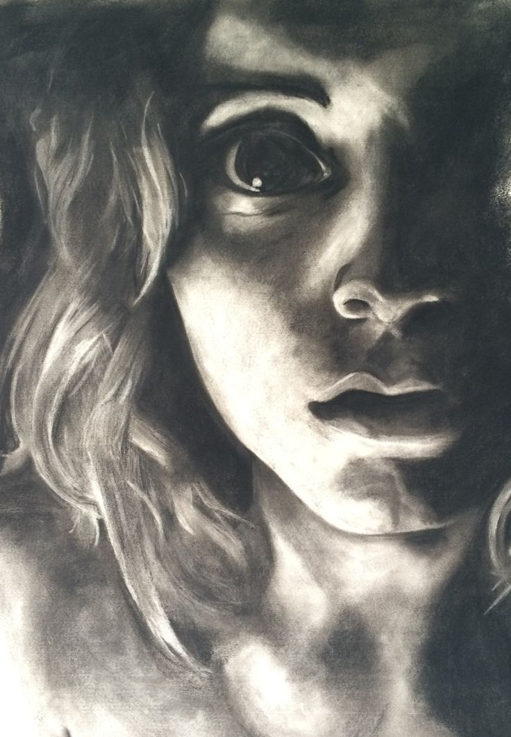 Charcoal Portrait by Razzmataz2 on Etsy, $300.00