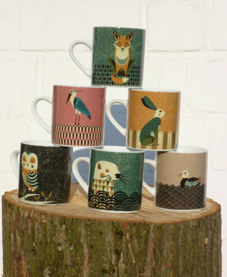forest animal mugs Foxella & Friends