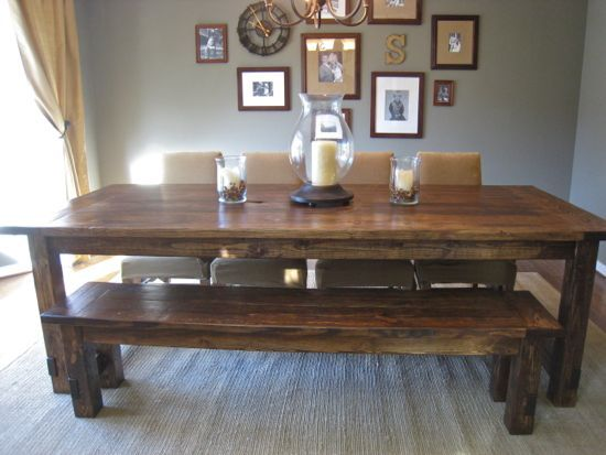 Looks almost like mine.Dining Rooms, Farms House, Diy Farmhouse, Diy Tutorial, Dining Room Tables, Farmhouse Tables, Farms Tables, Farm House Tables, Dining Tables