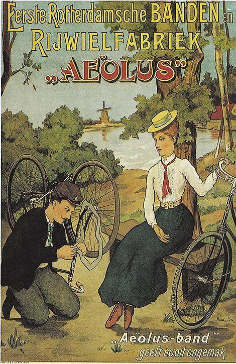 'Eerste Rotterdamsche Banden- en Rijwielfabriek Aeolus',. ca. 1905