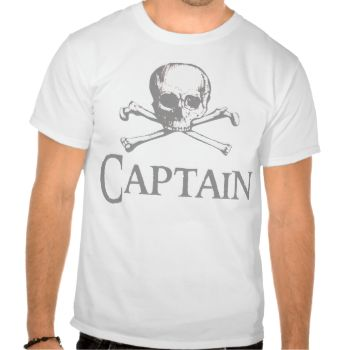 A skull and crossbones and caption Captain in light gray on pirate t-shirts, coffee mugs, tote bags, buttons, neck ties, postage, note cards and more great pirate gifts for the captain of your ship.. #talk #like #a #pirate #day #pirate #ship #captain #skull #crossbones #cross #bones #crossed #pirates #skull #and #crossbones #skull #and #cross #bones #skull #and #crossed #bones #cross #bones #crossed #bones #skeleton #got #rum #pirate #captain #sailor #buccaneer #swashbuckler #talk #like #day…
