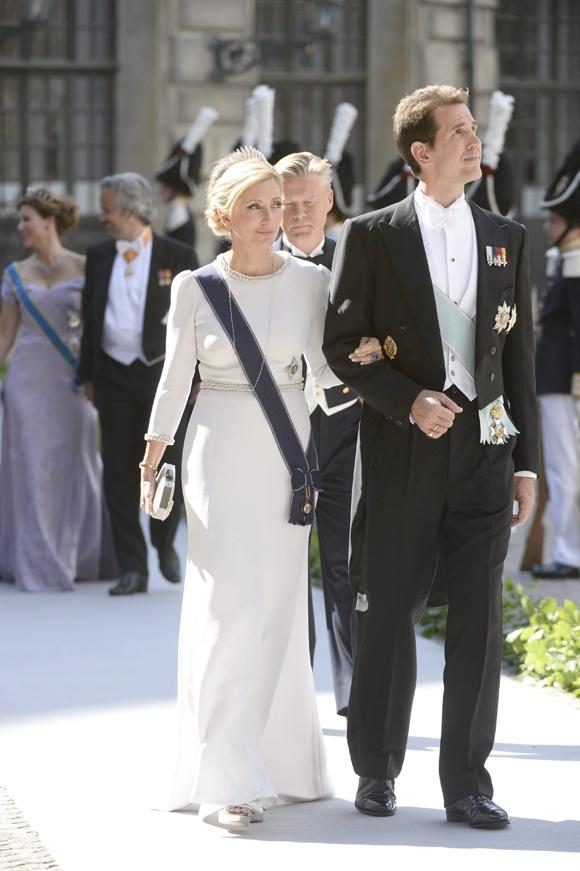 Princesa Marie-Chantal de Grecia y el príncipe Pavlos