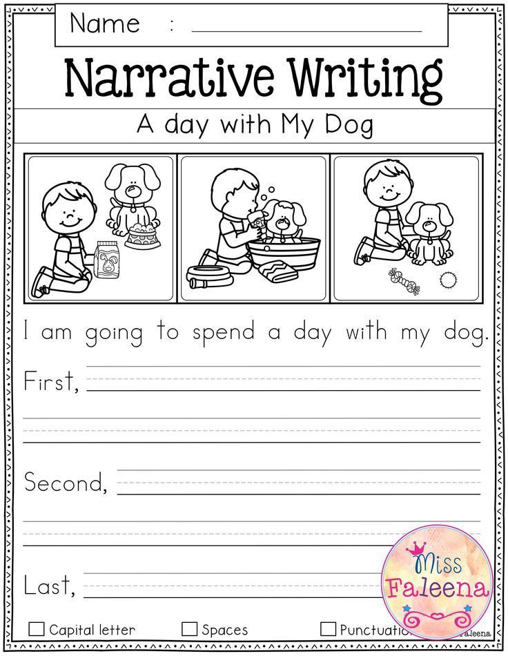 Free Writing Prompts Kindergarten writing prompts, First