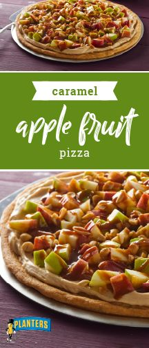Caramel Apple Fruit Pizza –  Save room for a slice of this fall dessert! Our delicious and easy-to-make sweet treat is a wonderful special-occasion dessert recipe that can be prepped in just 15 minutes!