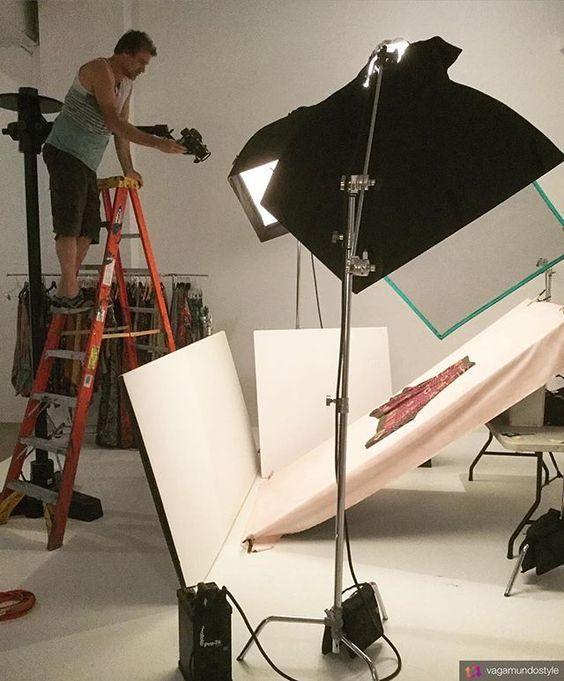 flat-lay clothing photography