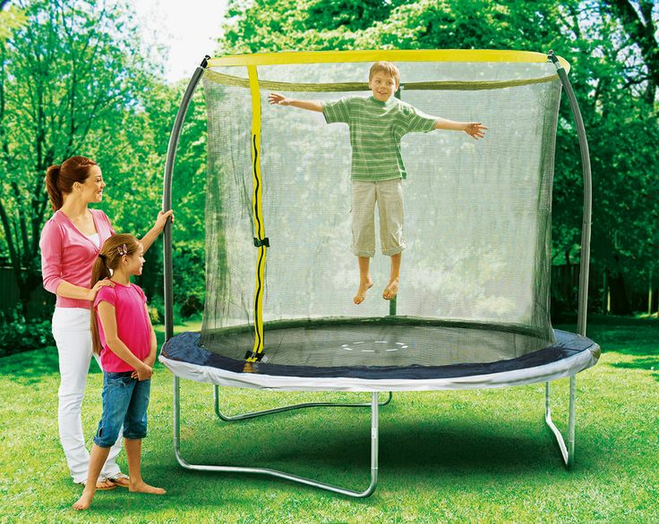Let your kids release all their energy by bouncing up and down for hours on Sportspower trampoline. The added enclosure creates a safe, secure enviroment, keeping your mind at ease.