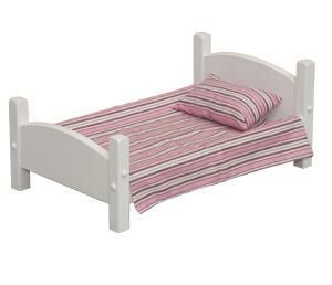 """American Made Wooden 18"""" Doll Bed Little ones will love this custom made bed for dolly."""