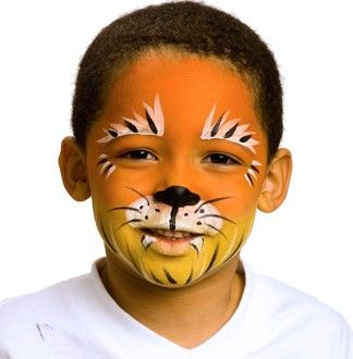Painted face: Tiger via snazaroo