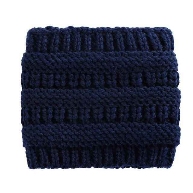 Newly Women Winter Knitted Headbands Wide Head Wraps Woman Crochet Warm Head Ban…  – Head Bands