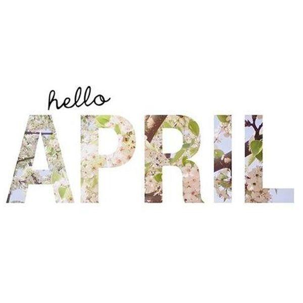 Deze week is ook weer een nieuwe maand begonnen, hello April! ☼
