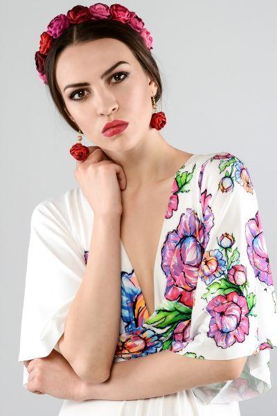 Kolczyki - Róże kobaltowe | Milita Nikonorov oficjalny butik projektantki