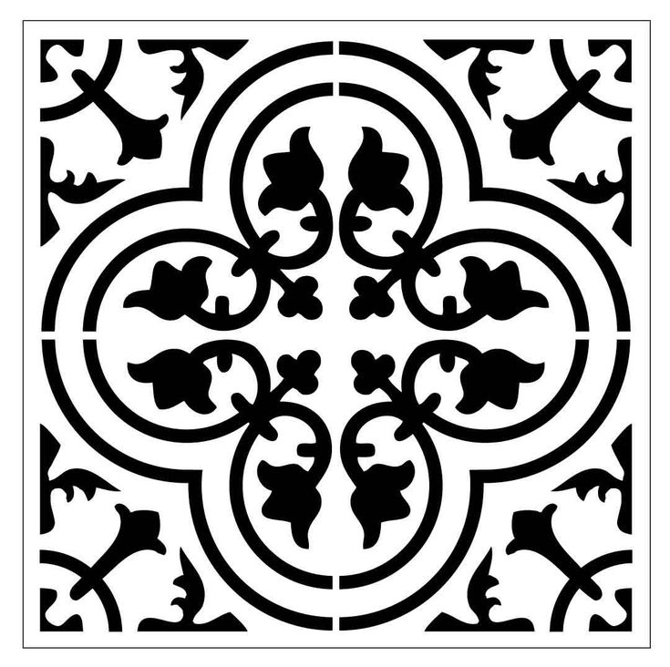 Reusable Laser-Cut Small to Large Floor or Wall Tile Stencil #30 fits 9x9 inch to 17x17 inch - sizes by PearlDesignStudio on Etsy
