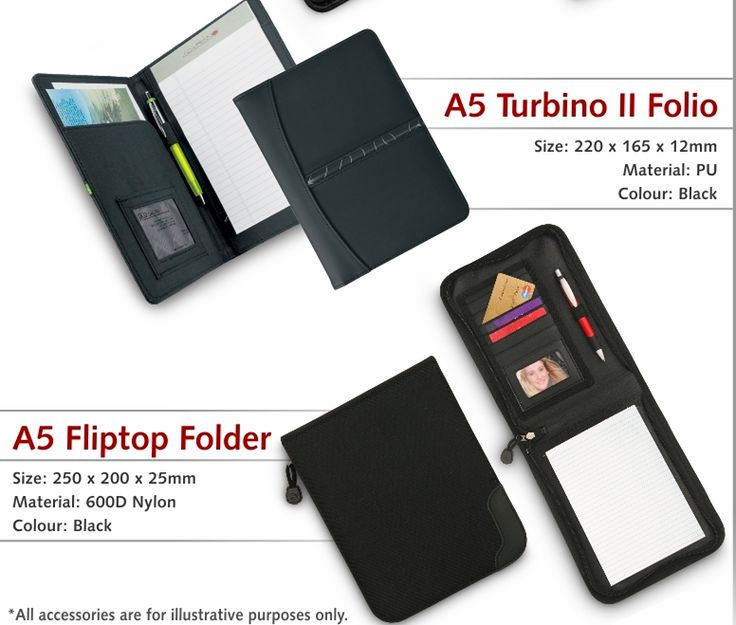 A5 Folders R30 Excl Vat. Branding Available Offer firm until 15 April