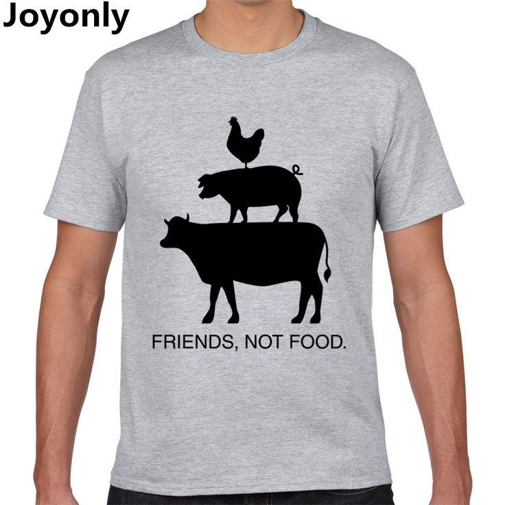 Joyonly Vegan Shirt Vegetarian T Shirt Present Animal Lover Statement Tee Animal Friends Not Food Shirt Women/Men T-Shirt TA-108 //Price: $14.95 & FREE Shipping //     #hashtag2
