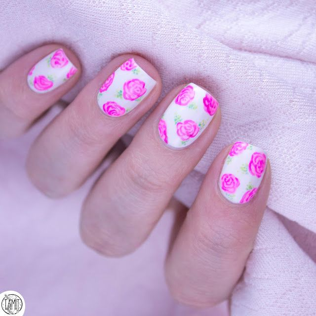 25 unique rose nails tutorial ideas on pinterest gel nail pink rose nails tutorial mohito prinsesfo Gallery