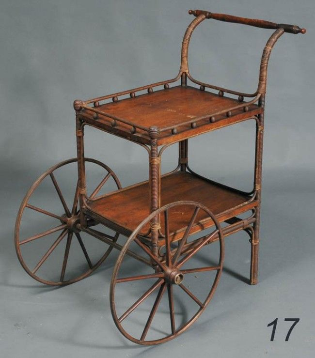 antique victorian tea cart