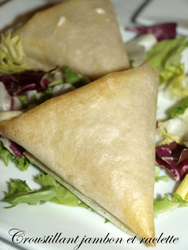 Croustillant jambon et Fromage à raclette - Dans vos assiettes
