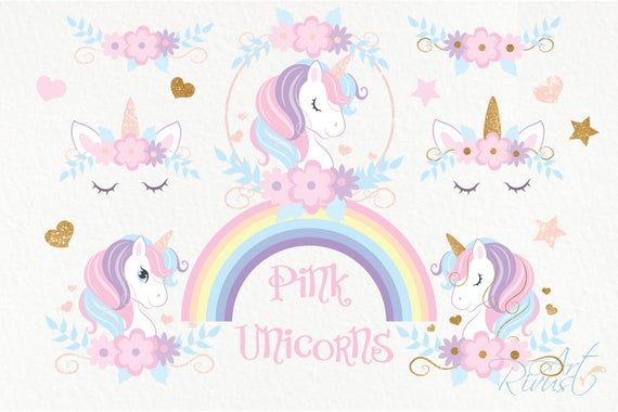 Unicorn Png Clipart Unicorn Face Free Commercial Use Cute Etsy In 2021 Unicorns Png Unicorn Face Magic Birthday