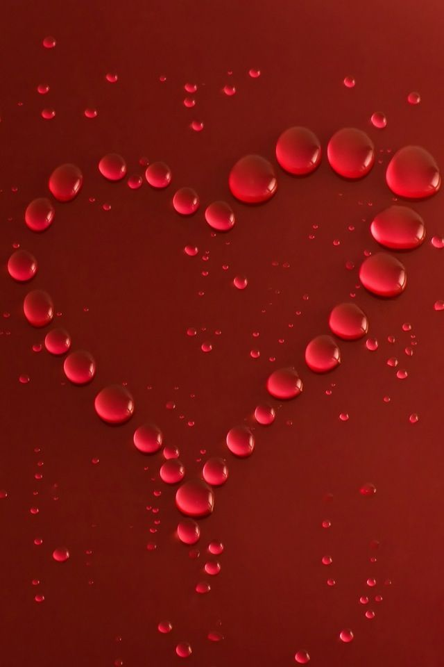 Red Dew Drop Heart Hearts Pinterest Heart Heart Wallpaper
