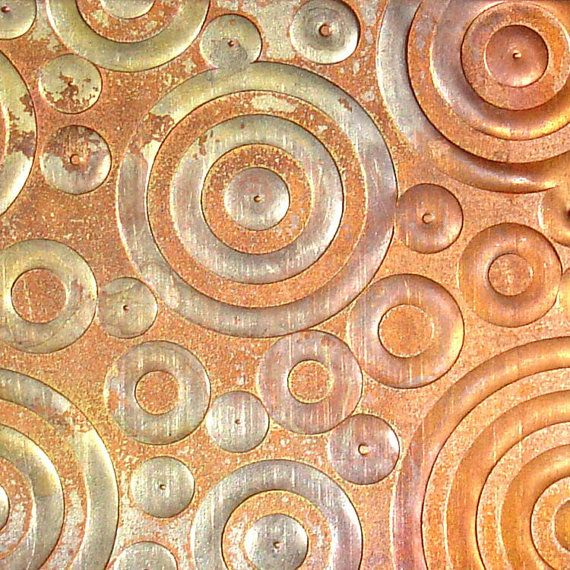 Textured Copper Sheet Metal Circles And Dots 26 Gauge Etsy Copper Sheets Copper Art Copper Color