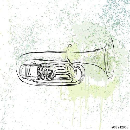 Wektor: musical tuba