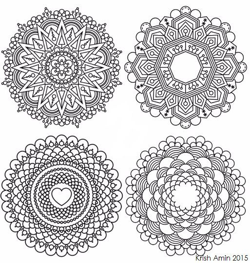 8 mini intricate mandala coloring pages pack hard krishthebrand