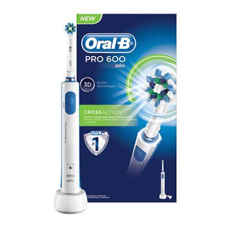 Stort udvalg af Elektriske Tandbørster her - Køb Braun Oral B Elektrisk Tandbørste Pro 600  - HER -  ✓ Billigste Pris
