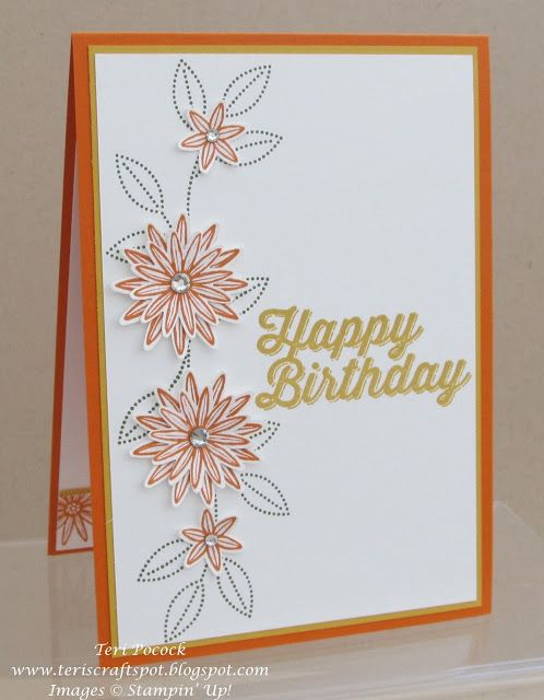 Stampin' Up! - Grateful Bunch - Birthday Card ....  Teri Pocock - http://teriscraftspot.blogspot.co.uk/2016/02/grateful-bunch-birthday-card.html