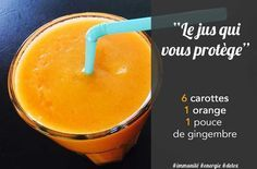 Voici un jus de carottes parfait pour booster l'immunité, redonner de l'énergie et nettoyer son corps des divers toxines. Le jus de carottes à des vertus minceur à ne pas négliger et permet de donner un grande nombre des vitamines et minéraux dont nous avons besoin. Plus d'infos sur notre blog. #jus #detox #minceur