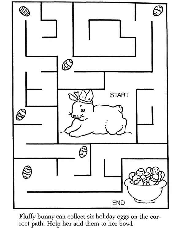 rabbit maze | Coloring pages, Fluffy bunny, Hunny bunny