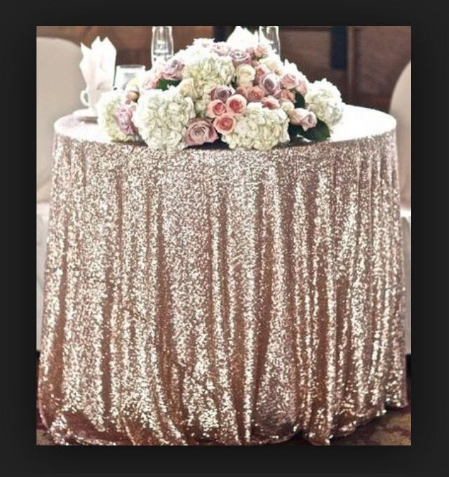 champagne sequined tablecloth