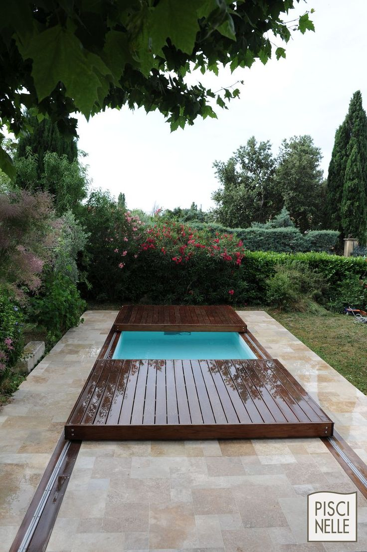 45 best terrasse mobile de piscine images on pinterest for Couverture piscine