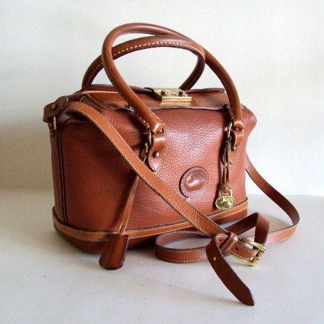 Vintage Dooney And Bourke Doctors Speedy Satchel Hand Bag. $160.00, via Etsy.