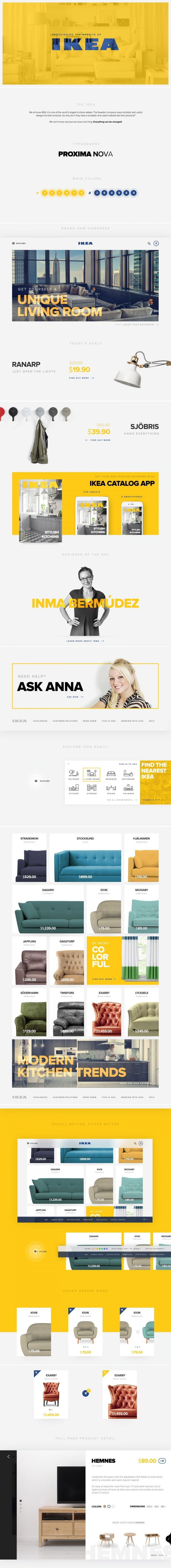 IKEA #website concept. Really nice. #webdesign
