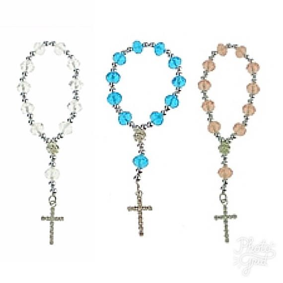 Dozen Beautiful acrylic crystal Rosary bracelets. Perfect for