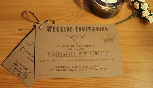 Handmade Personalised Wedding Invitation train ticket vintage shabby rustic   eBay