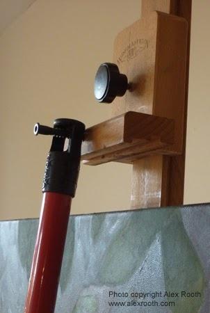mahl stick hanger. make mahl stick long enough that it can ...