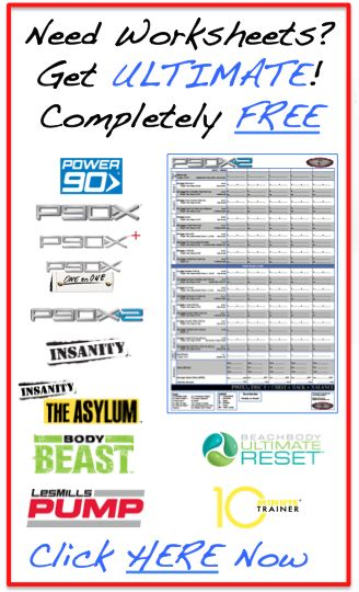 ULTIMATE Worksheets for all of the popular workout videos. VERY Helpful for tracking your workouts.
