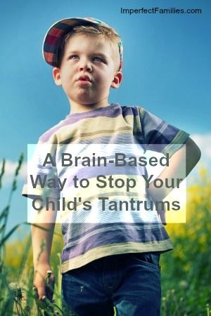 Have you tried this brain-based way to stop your child's tantrum? It's so simple, but it really works! www.imperfectfamilies.com