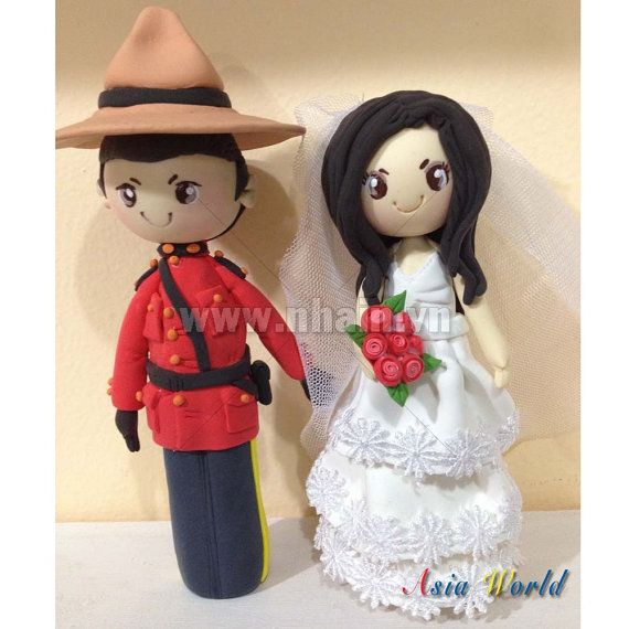 The Royal Canadian Mounted Police wedding cake topper by AsiaWorld, $69.90