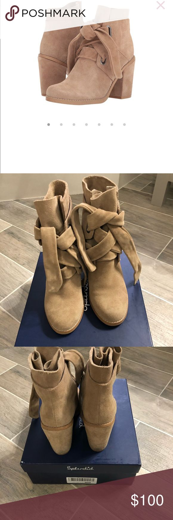 Splendid Rhiannon Bootie- Light Tan Super cute booties in light tan, very neutral color. Only worn twice. Sold with original box. Splendid Shoes Ankle Boots & Booties