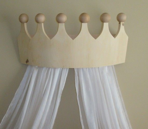 LOVE this bed crown...perfect for the kids beds!