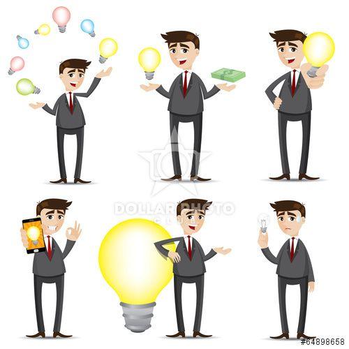 https://cz.dollarphotoclub.com/stock-photo/cartoon businessman with idea bulb set/64898658 Dollar Photo Club miliony kvalitních obrázků za 1$ za každý