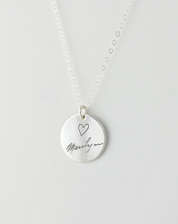 Actual handwriting immortalized in sterling by CherishedSentiments, $48.00